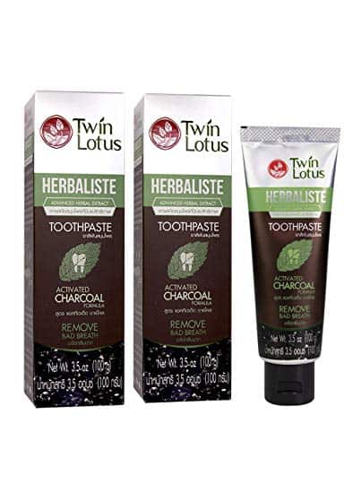 TWIN LOTUS Charcoal Teeth Whitening Toothpaste